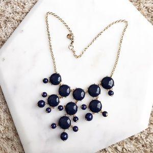 J Crew Navy Bubble Necklace